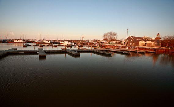 Boat docks at Hecla on Lake Winnipeg