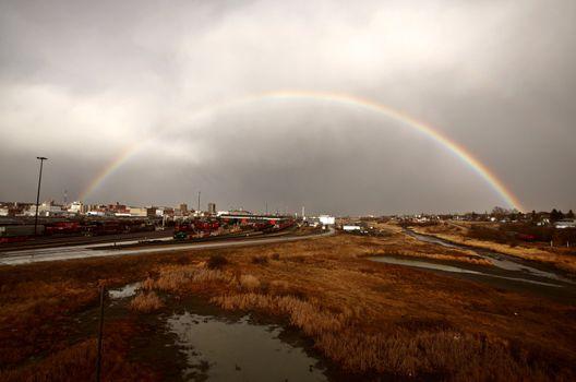 Rainbow over Moose Jaw Saskatchewan
