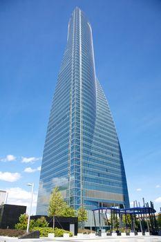 business crystal skyscraper