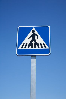 square crosswalk signal