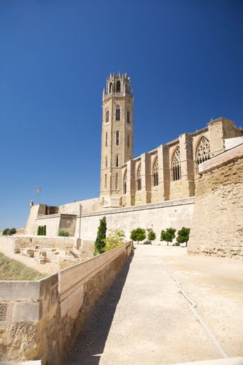fortress of cathedral at Lleida city