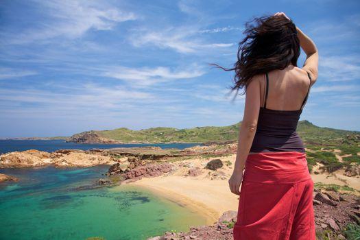 over Menorca north coastline