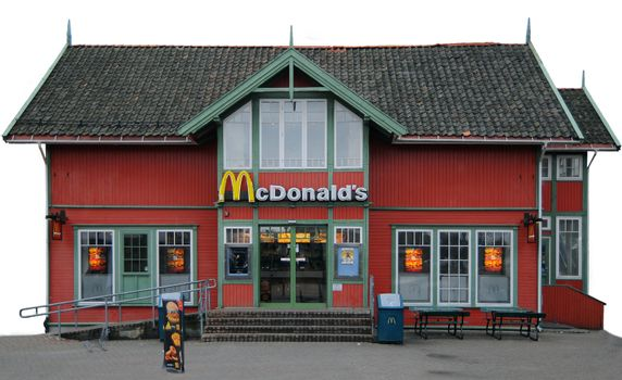 McDonalds restaurant isolated