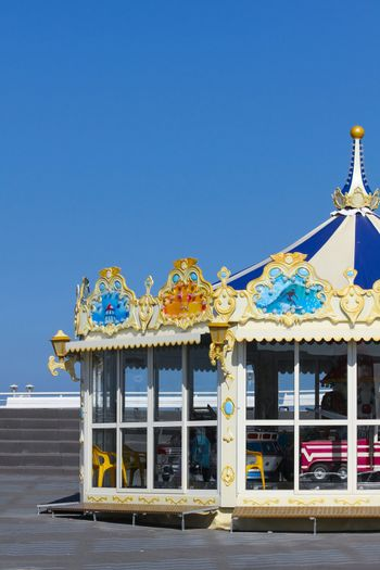 Merry-go-round at the beach
