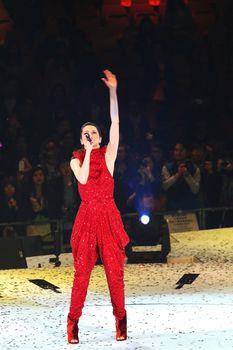 Feb.26 in Hung Hom Gymnasium, Hongkong, Gigi leung, a famous Asian pop music star, held her concert in 2011