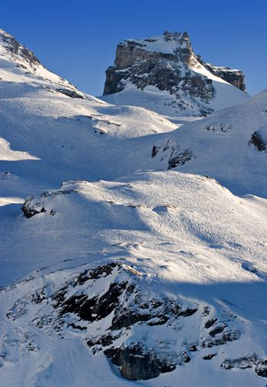 Mountain scape in Switzerland. Swiss Alps