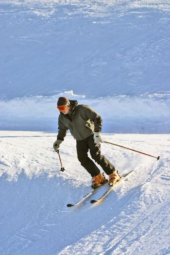 Man skiing on a slope