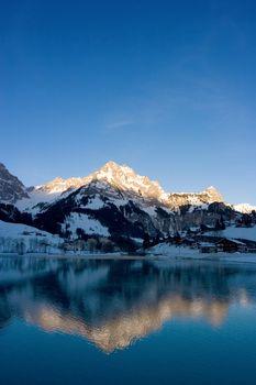 Mountain reflection at sunrise