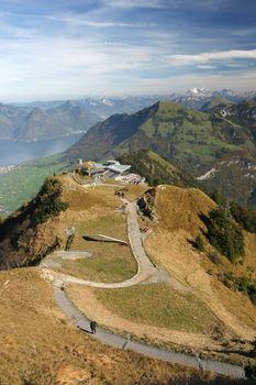 View over Stanserhorn. Switzerland.