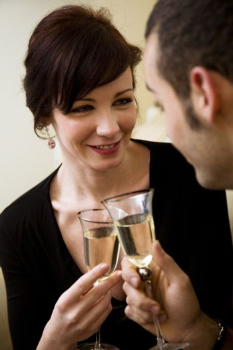 young couple celebrating