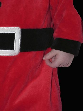 image of a child in santa outfit