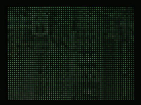 green computer blinking lights