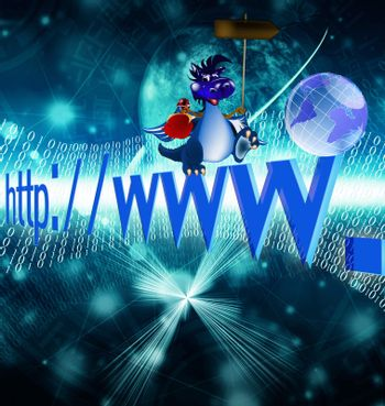 The newest the technology Internet in a year of the Dark blue Dragon