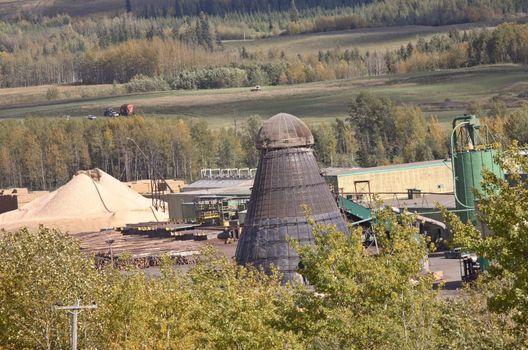 Lumber mill NE of Chetwynd, Alberta