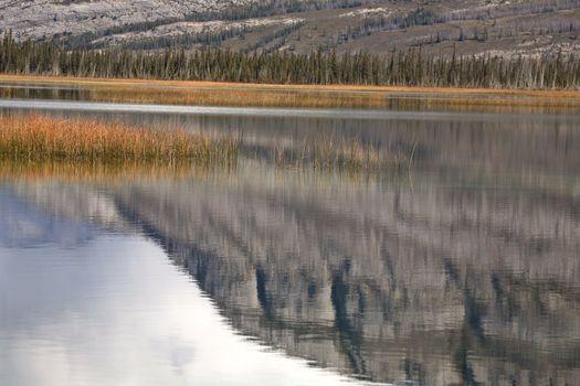 Mountain reflections in scenic Alberta