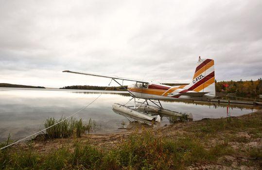 Float plane on a Saskatchewan lake