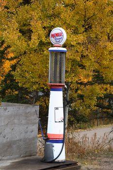 old gasoline pump at Elkwater Alberta