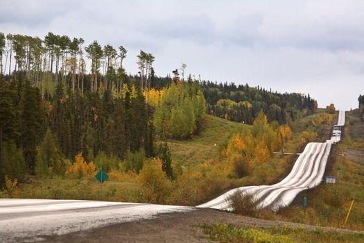 Logging road in scenic Alberta