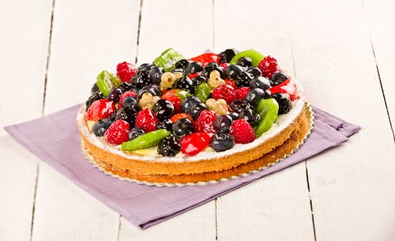 Pie with fruits