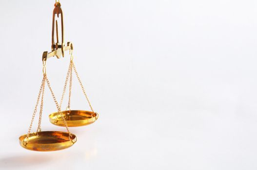 scale or scales with copyspace showing law justice or legal concept