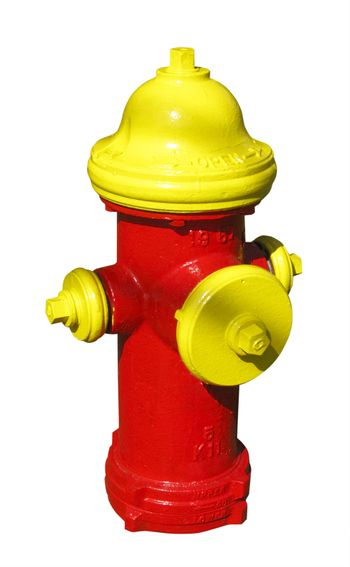 fire hydrant, isolated