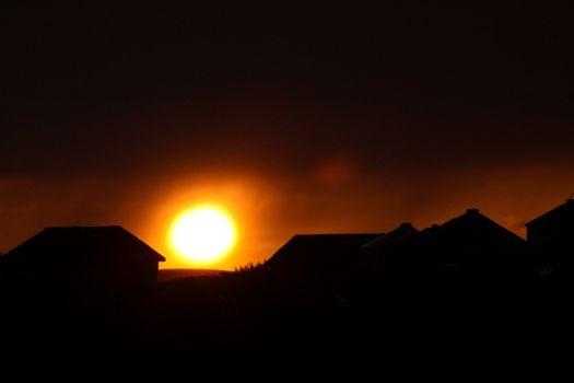 Sunset in scenic Saskatchewan