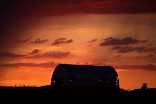 Gorgeous twilight in scenic Saskatchewan