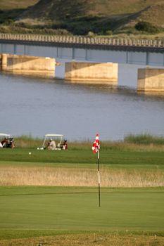 Golf green at Saskatchewan Landing