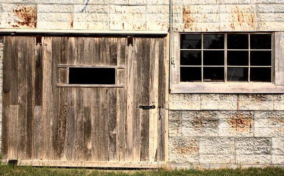 An abandoned garage in scenic Saskatchewan