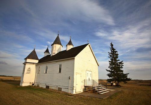 Saint Mary's Orthodox Church in scenic Saskatchewan