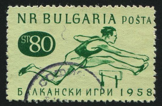 BULGARIA - CIRCA 1958: stamp printed by Bulgaria, shows runner, circa 1958.