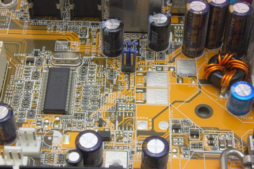 Close-up mother board
