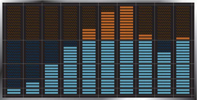 Indicator of musical equalizer.