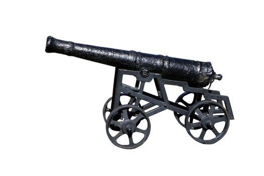a cutout of a canon