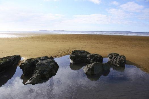irish beach at dawn