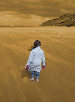 walking on an irish beach barefoot