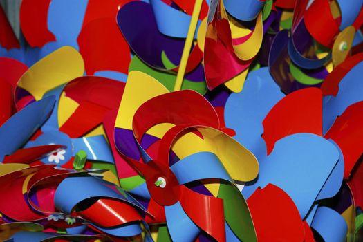 a mix of childrens windmills