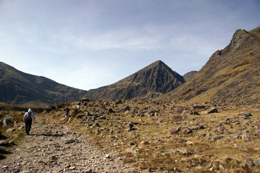 a rocky mountain path in kerry