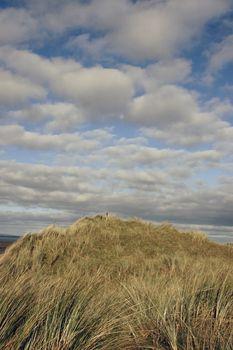 the peak of a sand doon