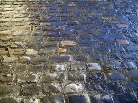 London cobbled street
