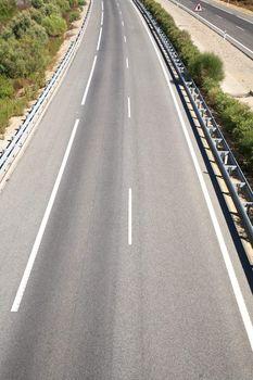 two lanes on asphalt
