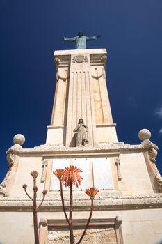 christ statue at Menorca