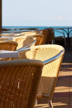 Cafe on a seashore