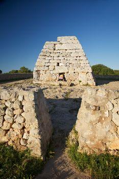 hidden woman at prehistoric monument