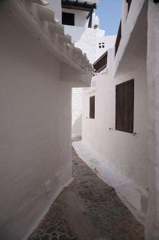 white narrow alley
