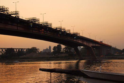 Bridge reconstruction in Belgrade