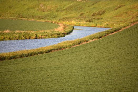 Moose Jaw River in scenic Saskatchewan