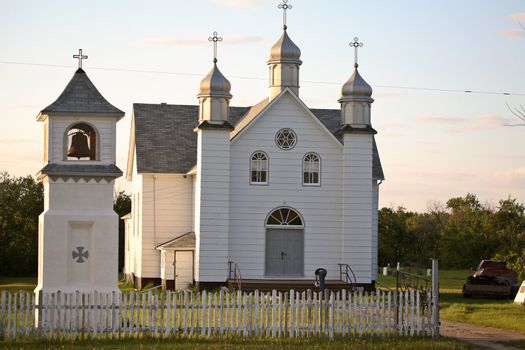 Ukrainian Orthodox Church in scenic Saskatchewan