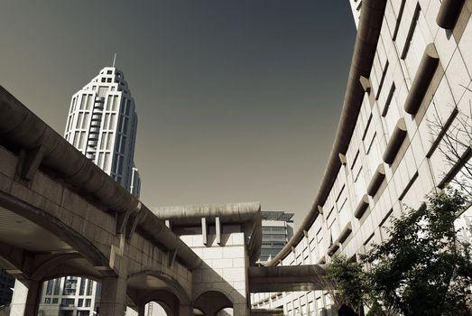 Modern citys scenic