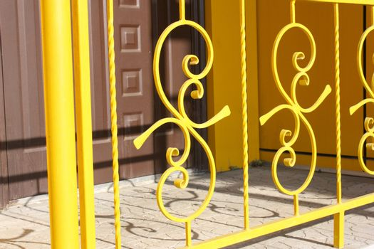 Metal figured handrail